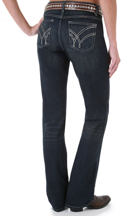 Wrangler Women's Q-Baby Mid Rise Jeans - Absolute Star