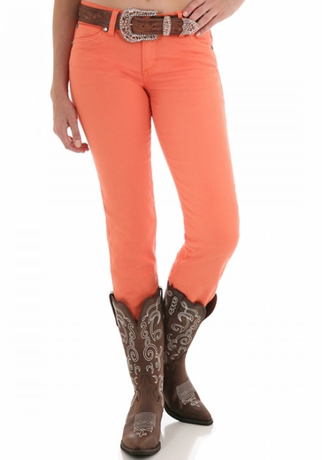 Wrangler Women's Ultra Low Rise Booty Up Skinny Jeans - Orange (Closeout)