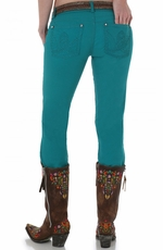 Wrangler Women's Ultra Low Rise Booty Up Skinny Jeans - Turquoise (Closeout)