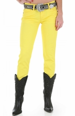 Wrangler Women's Ultra Low Rise Booty Up Skinny Jeans - Yellow (Closeout)