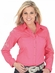 Wrangler Womens Long Sleeve Solid Western Snap Shirt - Pink