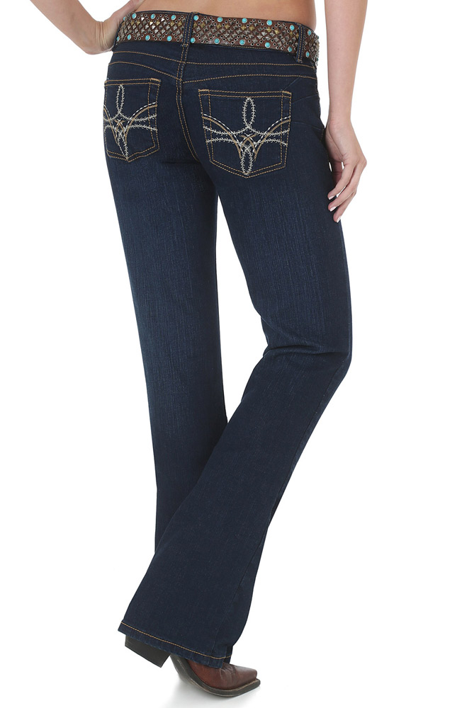 Wrangler Womens Premium Patch Booty Up Low Rise Jeans - American Royal