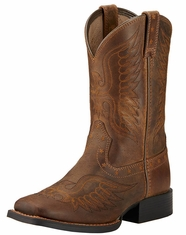 Youth Honor Kids Boots - Distressed Brown