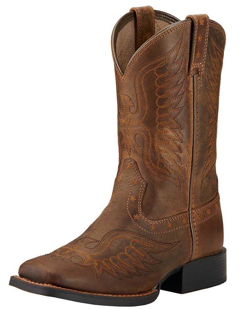 Ariat Youth Honor Kids Boots - Distressed Brown