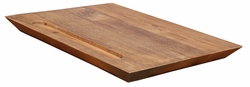 Carving Recycled Teak Cutting board
