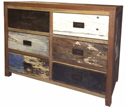 Dresser made from Recycled Boats