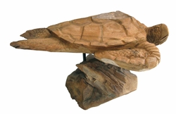 Handcarved Teak Turtle