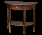 Mahogany Half Moon Console Table