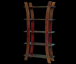Mahogany Swirly Bookcase