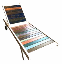 Pool Lounger made from Recycled Boats