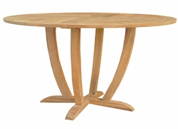 Round Teak Amsterdam Dining Table made by Chic Teak
