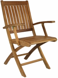 Santa Barbara Folding Chair with Arms made by Chic Teak©