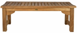 Santa Monica Backless Bench made by Chic Teak, 4 foot