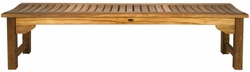 Santa Monica Backless Bench made by Chic Teak, 6 foot