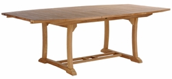 Semi Oval Teak Elzas Extension Table made by Chic Teak