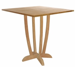 Square Teak Amsterdam Bar Table made by Chic Teak©