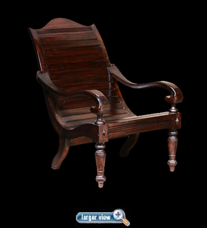 Teak Barbados Lazy Chair - click to enlarge