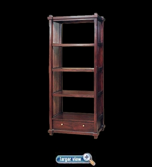 Teak Diamond Bookcase - click to enlarge