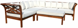 Teak Long Island Sectional