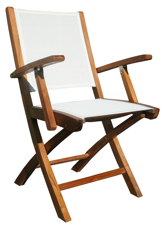 Teak Miami Folding Chair with Arms