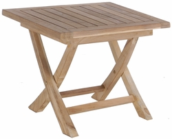Teak Naples Folding End Table made by Chic Teak©