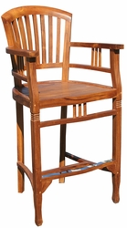 Teak Orleans Bar Stool with Arms