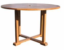 teak round hatteras table chic teak furniture
