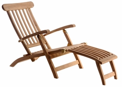 Teak Steamer Chair with Stainless Steel Hardware