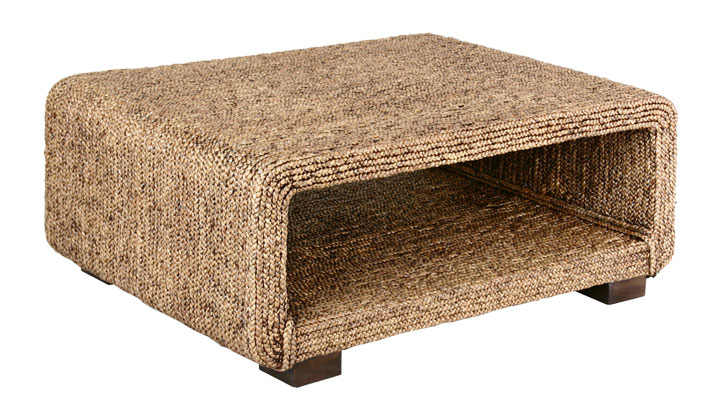 water hyacinth woven coffee table in destin | foley | pensacola