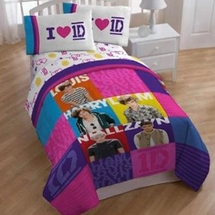 1 Direction Patchwork Twin Sheet Set