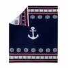 "Anchors 100% Knitted Cotton Throw 50"" x 60"""