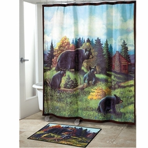 BLACK BEAR LODGE Shower Curtain, Towels & Accessories