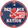 "Boston Red Sox ""Nation""  Wall Clock  12.75"" Round"