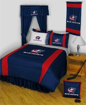 Columbus Blue Jackets NHL Bedding-Sidelines