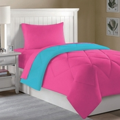 Dorm Bed & Bath Pink/Aqua 10pc Set for XL Twin College Beds