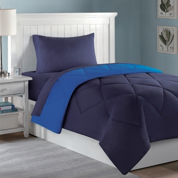 Dorm Room In A Box Navy/Royal Blue  10pc Set for XL Twin College Beds