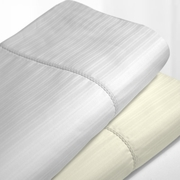 Egyptian Cotton 475 Thread Count Stripe Hemstitched Sheet Sets