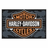 "Harley Davidson ""Bikers Welcome"" Tufted Rug 20"" x 30"""