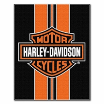 "Harley Davidson Black Stripe Beach Towel 54"" x 68"