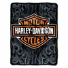 "Harley Davidson Burn Micro Raschel Throw  46""  x 60"""