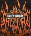 "Harley Davidson Flames Fleece Throw  50"" x 60"""