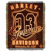 Harley Davidson Genuine Metallic Tapestry Throw