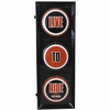 "Harley Davidson  ""Live To Ride"" Traffic Light Lamp"