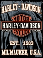 "Harley Davidson Milwaukee Throw 60"" x 80"""