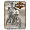 Harley Davidson Race Time Tapestry Throw