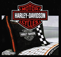 Harley Davidson� Racing Flag  Pillow Sham