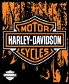 "Harley Davidson Road Warrior Fleece Throw 50"" x 60"""