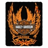 Harley-Davidson Skid Out Fleece Throw Blanket