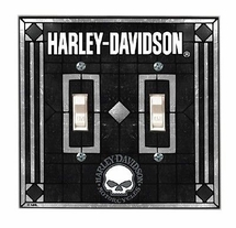 "Harley Davidson ""SKULL"" Double  Switch Plate Cover"