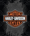 "Harley Davidson Vibe Raschel Throw 50"" x 60"""